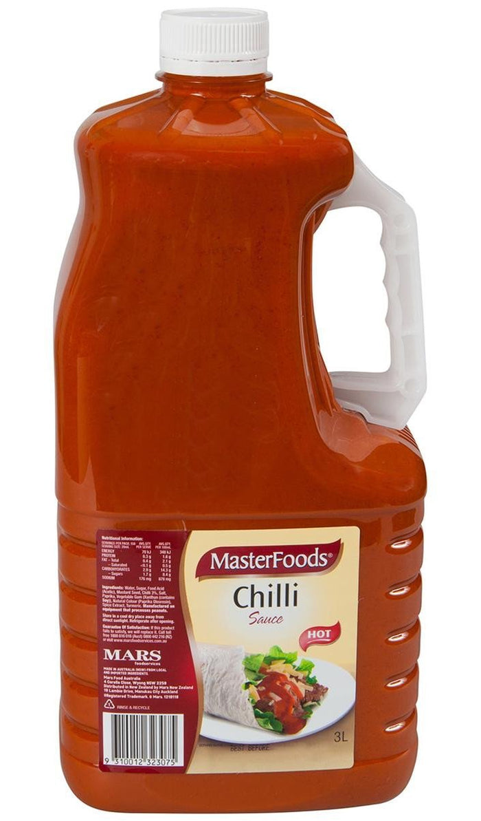 Sauce Chilli Hot 3Lt Btl