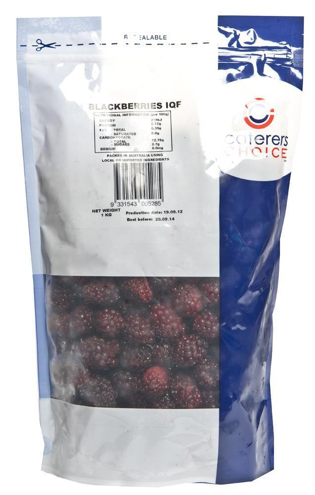 Blackberries IQF 1Kg Bag