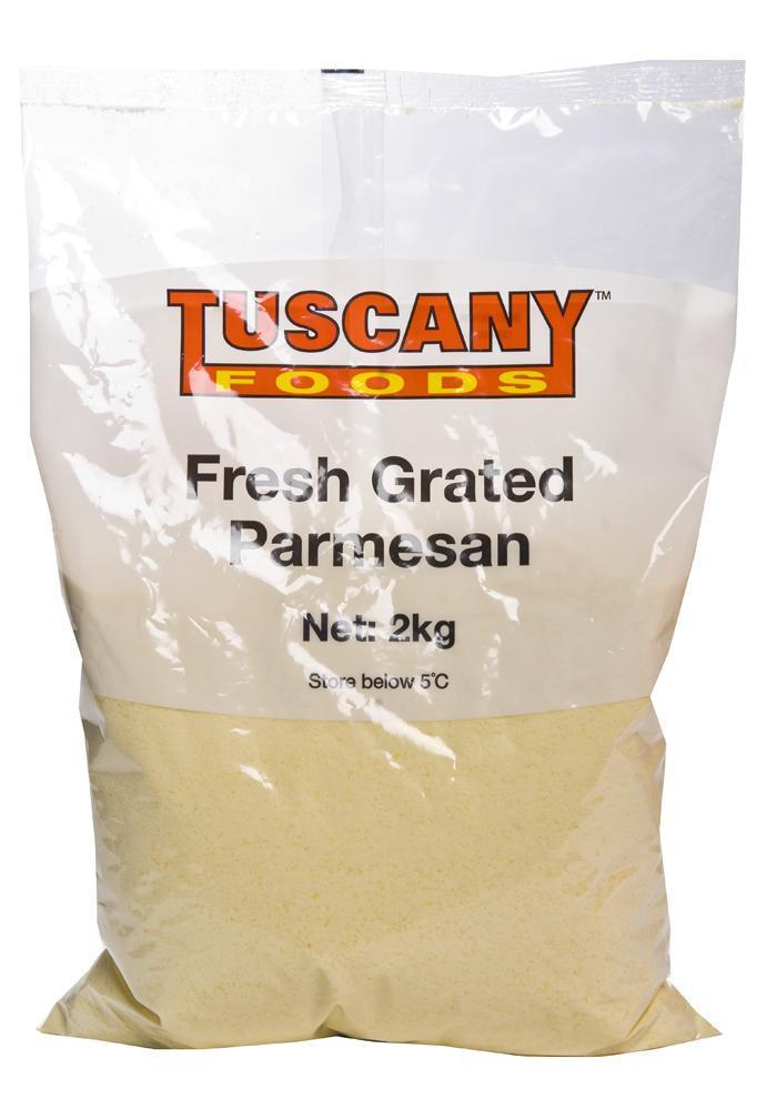 Cheese Parmesan Grated 2Kg Pkt
