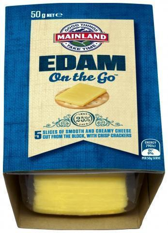 Cheese & Biscuit On The Go Edam 7x50gr Ctn  *