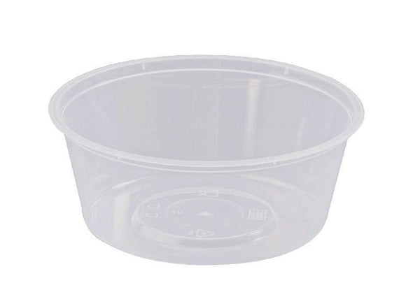 Container Round 280ml Takeaway Plastic 100's Slv  *
