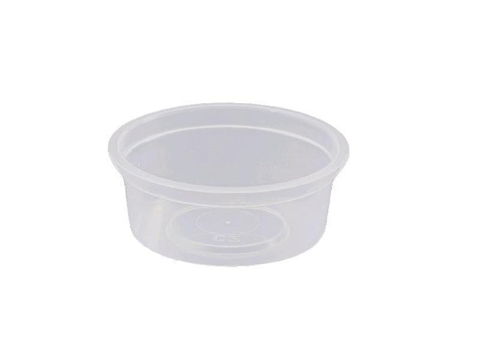 Container Round 70ml Takeaway Plastic 100's Slv  *