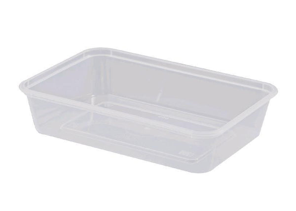 Container Rectangle 500ml Plastic Microwavable 50's Slv  *