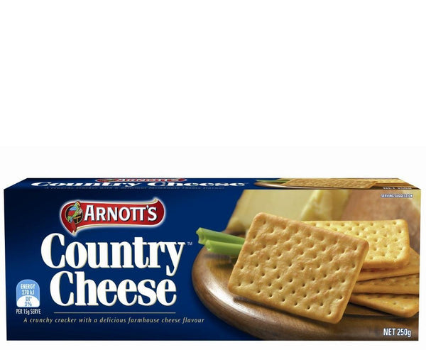 Biscuits Country Cheese 250Gr Pkt  *