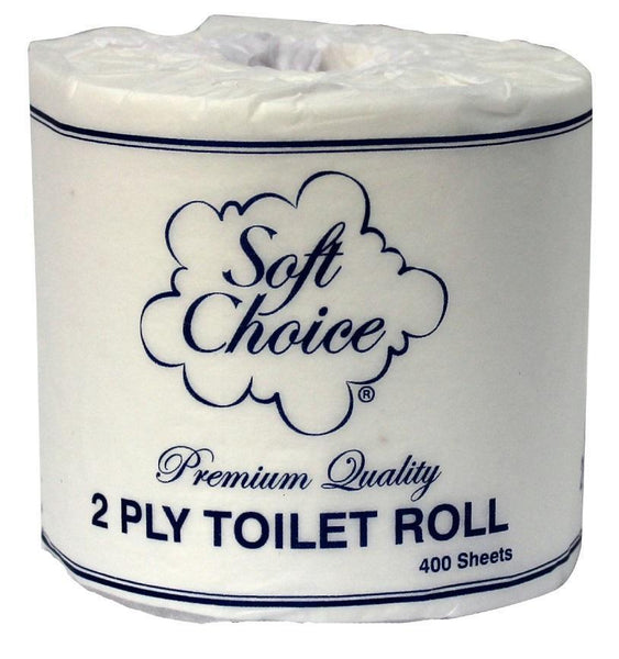 Toilet Rolls 2 Ply 400 Sheet Wrapped 48 Rolls Ctn  *