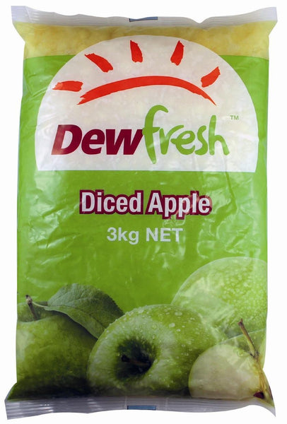 Apples Diced Pouch Pack 3x3Kg Ctn