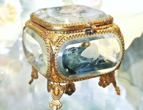 NOW SOLD French Ormolu Jewelry Box or Casket, Vintage Collectible