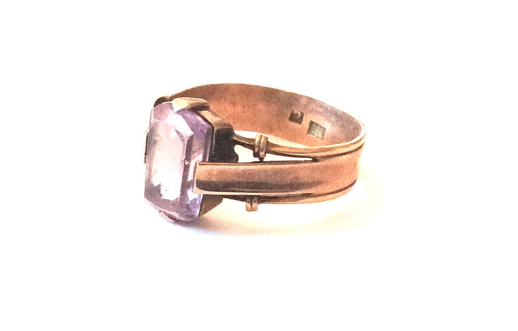 Amethyst Ring, 333 European Gold, 8K Gold, Vintage Fine Jewelry SALE