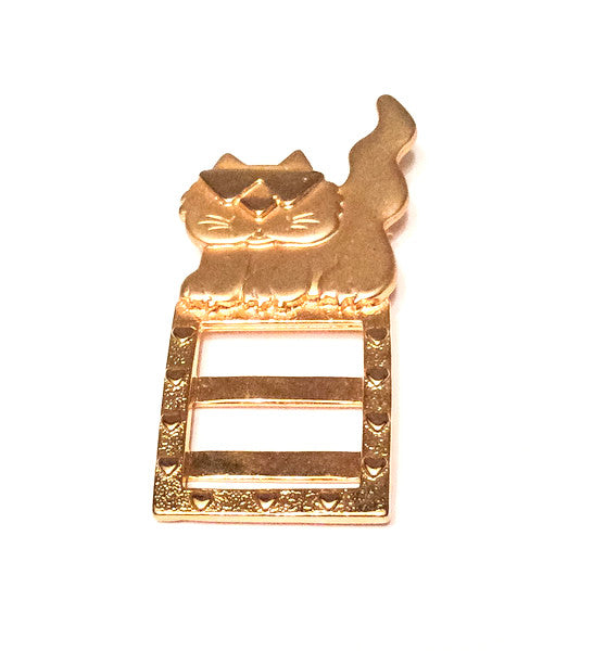 Jonelle Jewelry, Cat Wearing Sunglasses Pin or Brooch,