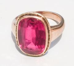 NOW SOLD Edwardian Pink Red Ruby 14K Gold Ring Vintage Fine Jewelry