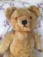 Moon Eyed Teddy Bear, Chad Valley 1940s Vintage Collectible