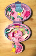 Polly Pocket Unicorn Meadow Compact, 100% Complete, 1995 Vintage Toys