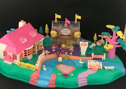 BOXED Polly Pocket, 1996 Magical Moving Pollyville, Vintage Toys