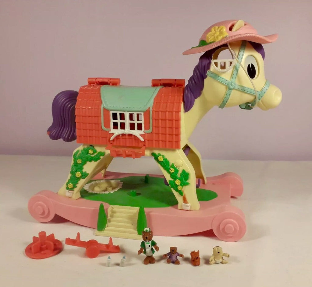 Tiny Weenies Family Rocking Horse, 1996, Vintage Toy
