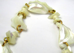 NOW SOLD Mother of Pearl Necklace, Mid Century, Vintage Jewelry