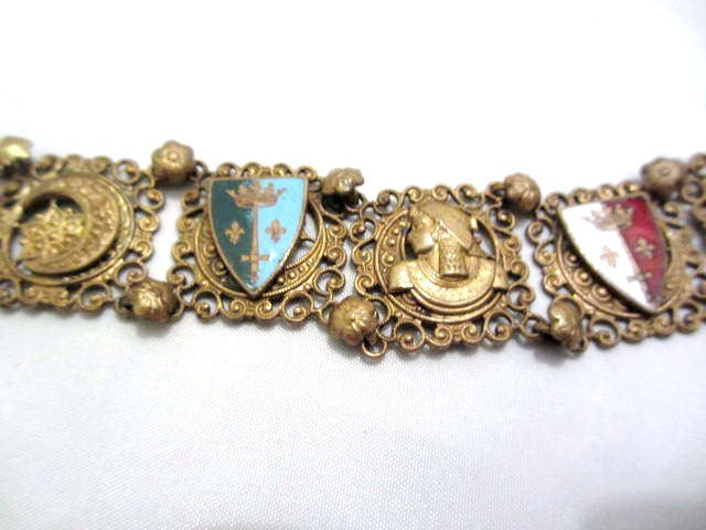 Egyptian Revival Bracelet, Enamel, 1920s Art Deco