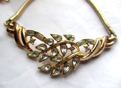 NOW SOLD Trifari Necklace, Rhinestone, Pat Pend, 1950s Vintage Jewelry