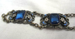 NOW SOLD Czech Glass Bracelet, Enamel, Art Deco Neiger, Vintage  Jewelry