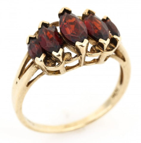 NOW SOLD Garnet Ring, 10K Gold Ring, Retro Vintage Fine Jewelry