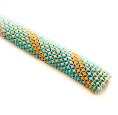NOW SOLD Turquoise Bead Bracelet, Ciner Bangle Vintage Jewelry