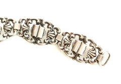 German Art Nouveau Bracelet, European Silver 835