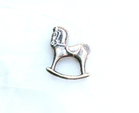 Rocking Horse Brooch Pendant, Victorian, Sterling Silver, Vintage Jewelry