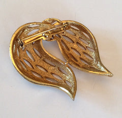 Open Metalwork Bow Brooch Retro Vintage Jewelry