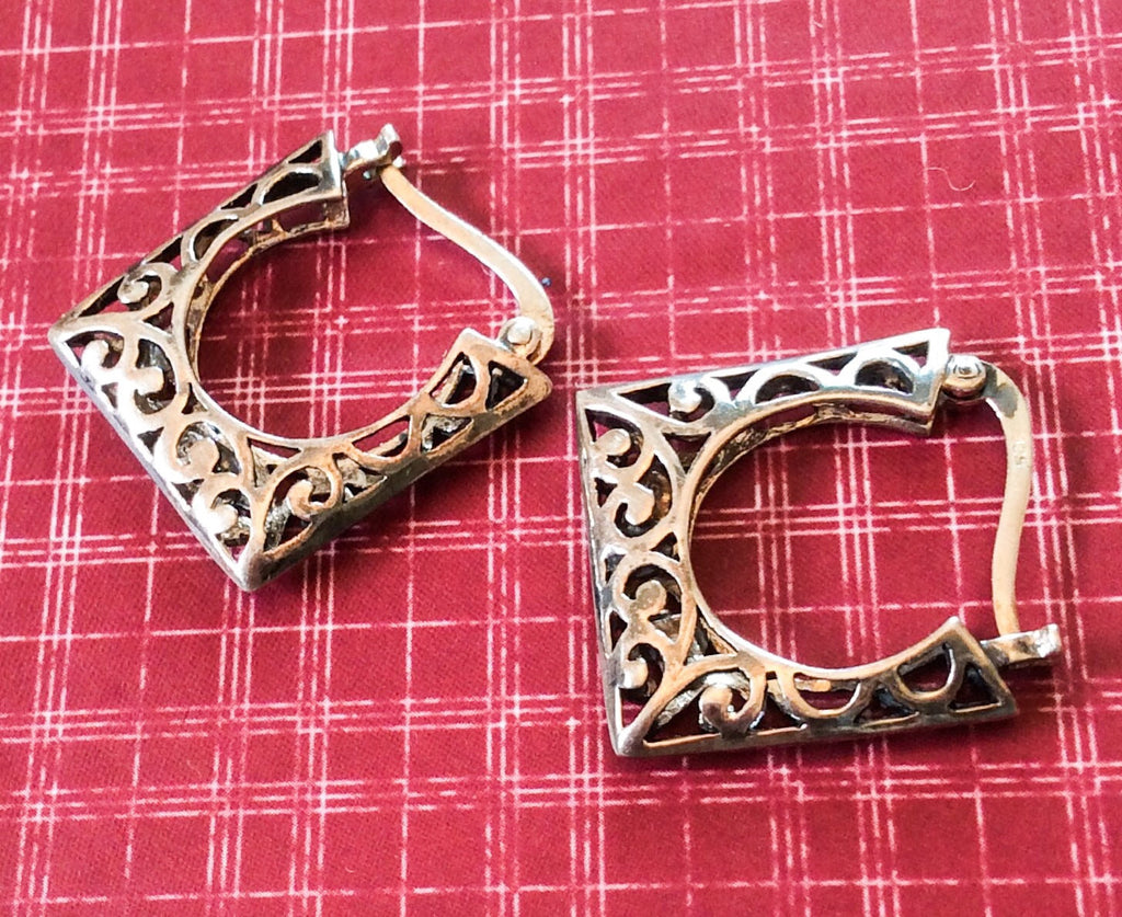 NOW SOLD Celtic Earrings Sterling Silver Vintage Jewelry
