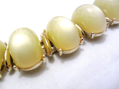 Pale Green Moonglow Lucite Bracelet, 1950s Jewelry