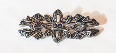 Marcasite Bow Brooch, Art Deco Vintage Jewelry, Gift for Her
