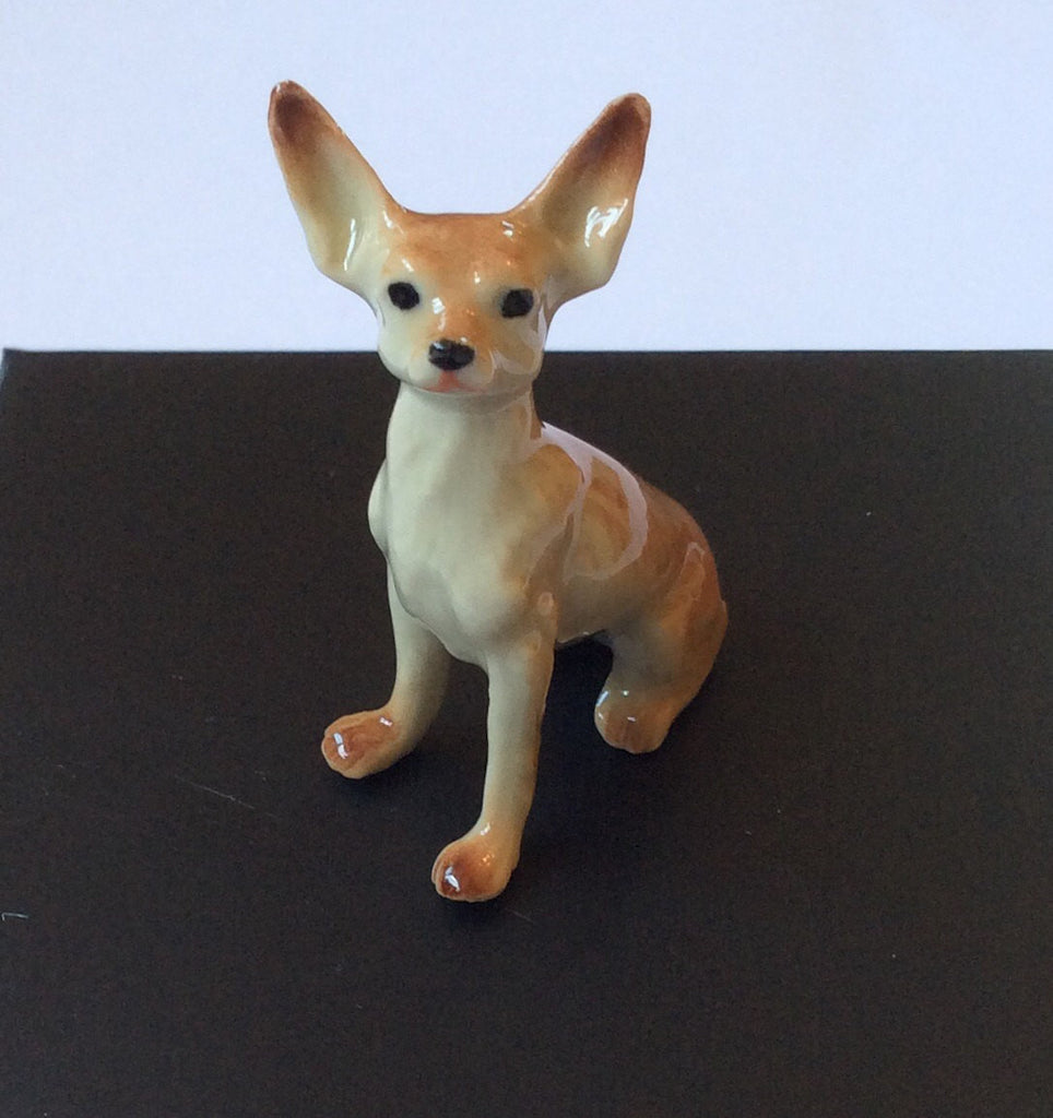 NOW SOLD Miniature Chihuahua Dog Vintage Pottery Home Decor Collectible