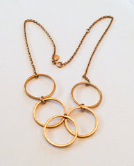 NOW SOLD Bib Necklace, Circles, Avon, Retro Vintage Jewelry