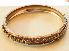 NOW SOLD Victorian Revival Mesh Modernist Bangle Bracelet Vintage Jewelry, Gift for Her