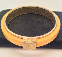 NOW SOLD Butterscotch Bakelite Bangle Bracelet