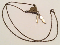 Native American, Feather, Pendant Necklace, Vintage Jewelry