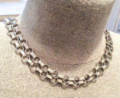 NOW SOLD Coro Chain Necklace, Retro 1940s Vintage Jewelry