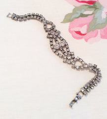 NOW SOLD Rhinestone Bracelet, Art Deco, Vintage Jewelry