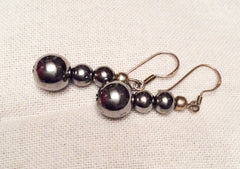 Vintage Dangle Earrings Sterling Silver 1970s Vintage Jewelry