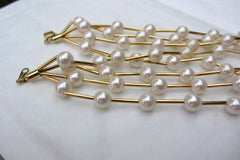 NOW SOLD Pearl Necklace, Multi Strand, Modernist, Avon, Retro Vintage Jewelry, Gift for Her