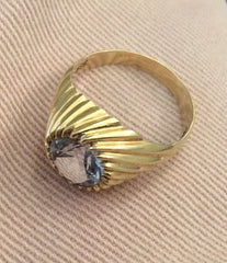 NOW SOLD Aquamarine Ring, 14K Gold Art Deco Vintage Fine Jewelry