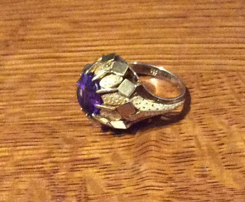 NOW SOLD Amethyst Ring 14K Gold Art Nouveau Art Deco Fine Jewelry