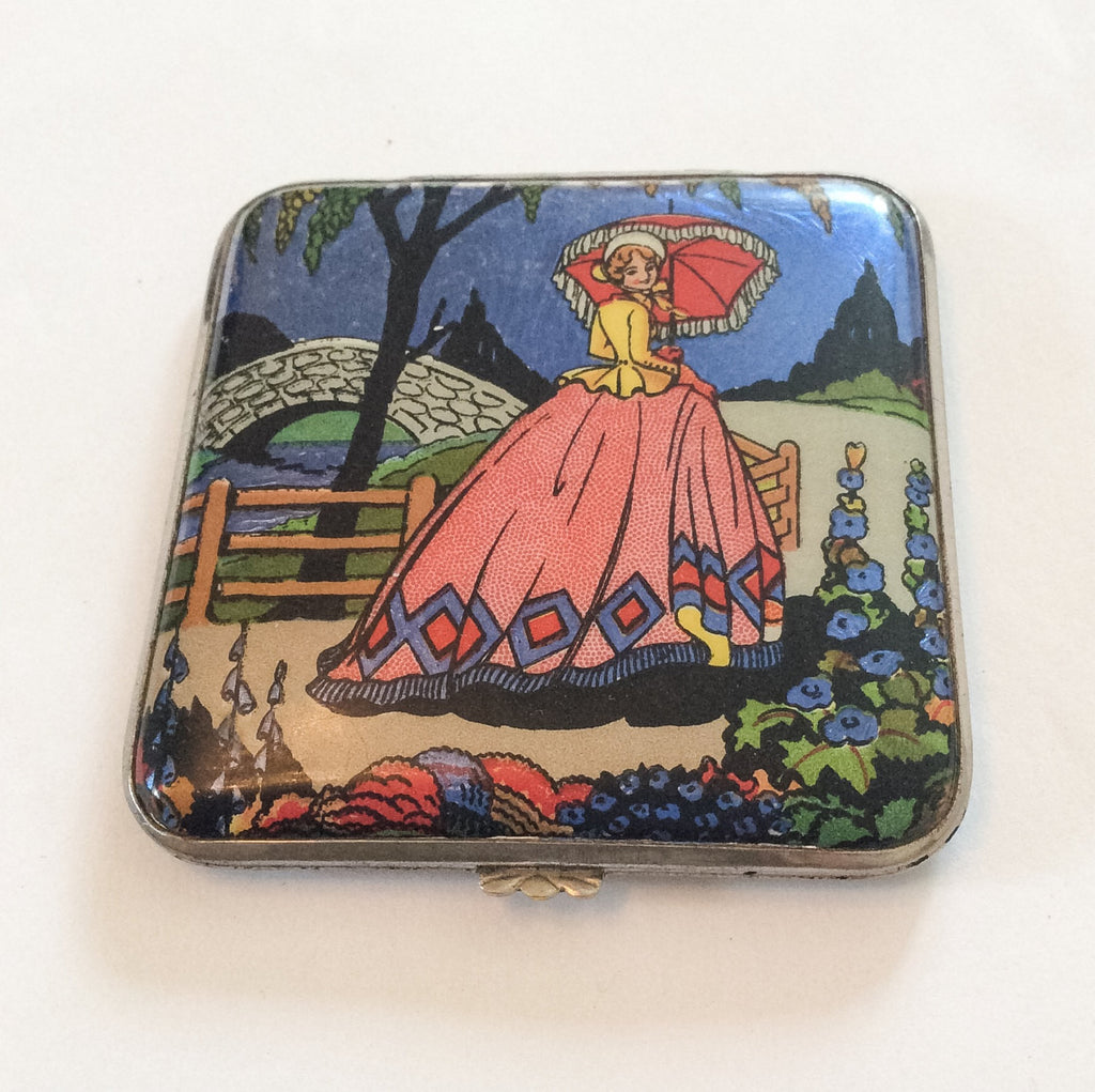 NOW SOLD Butterfly Wing Compact, Gwenda, Art Deco Vintage