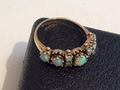 Opal Gold Ring, Victorian Vintage Fine Jewelry, 10K Gold