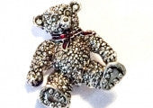 SOLD Teddy Bear Pin or Brooch, Retro Vintage Jewelry, SALE
