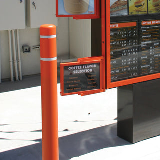 Dunkin' Donuts Orange Post Covers with White Reflective Bands