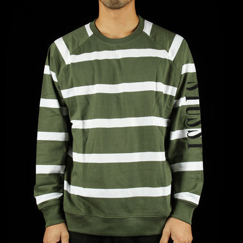 Striped Raglan Crewneck Sweatshirt