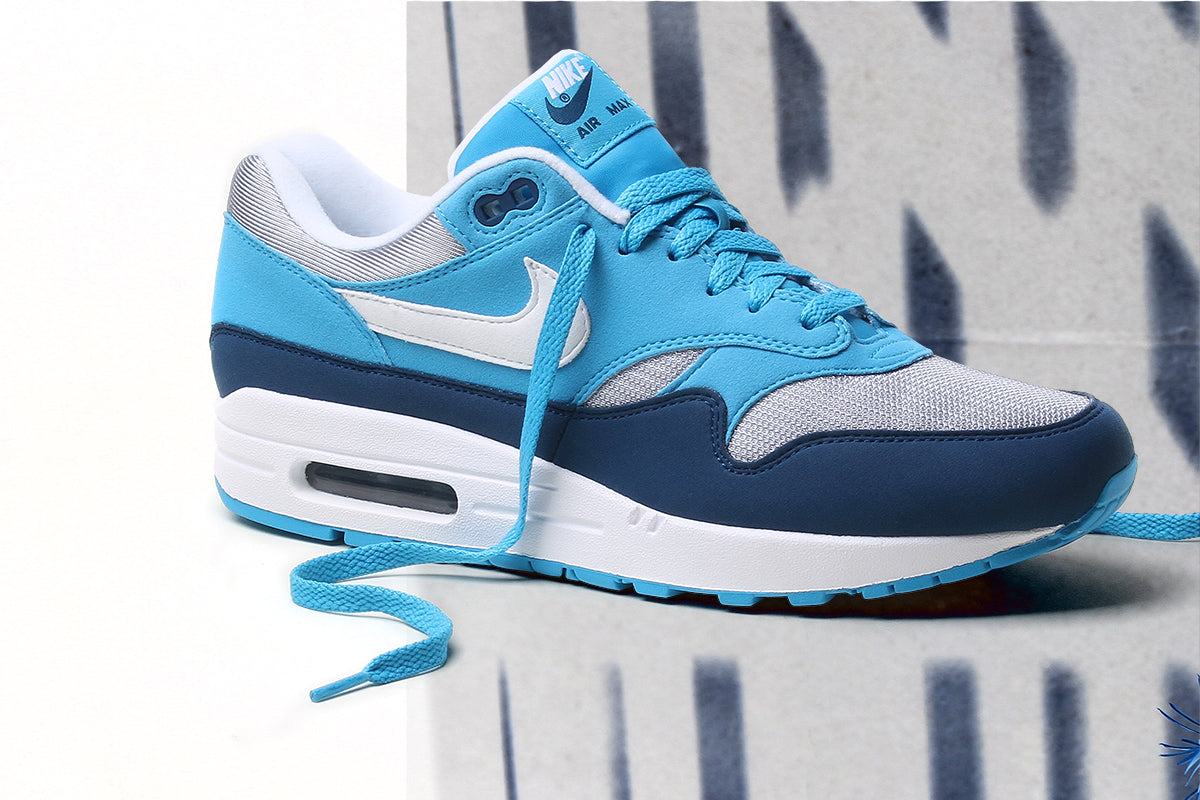 Nike Air Max 1 AH8145 002 Men Wolf GreyLight Blue FuryBlue