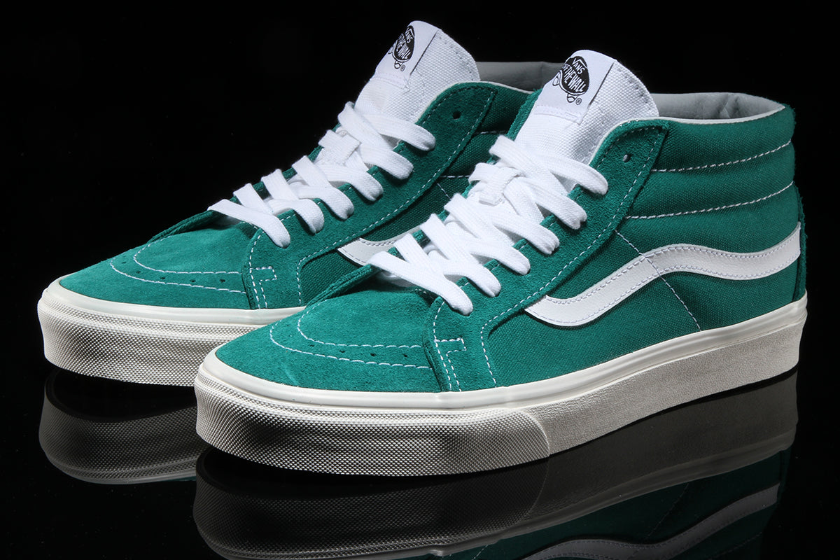 Vans Sk8 Mid Reissue Skate Shoes (Retro Sport) Cadmium Green
