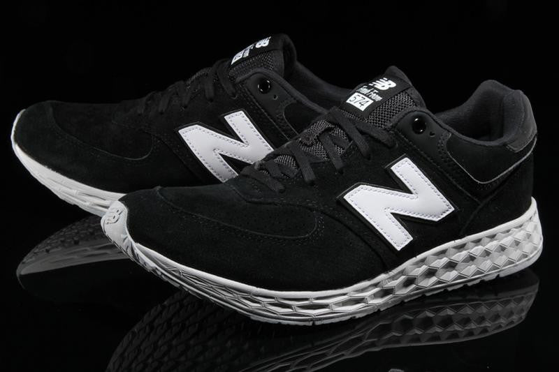 new balance 574 fresh foam trainers in black mfl574fc