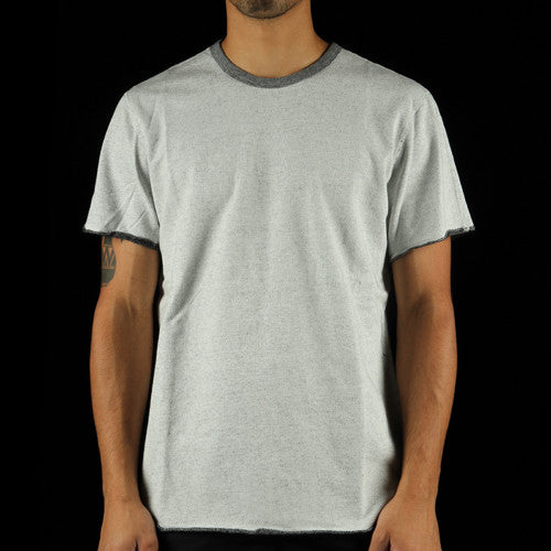 Diagonal Terry Crewneck T-Shirt